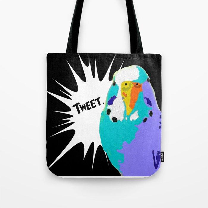 Tweet Keet Parakeet bird Tote Bag