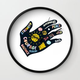 Positivity – Helping Hand Wall Clock