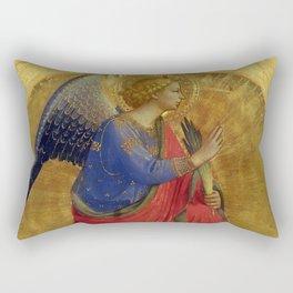 "Fra Angelico (Guido di Pietro) ""Perugia Altarpiece – Angel of the Annunciation"" Rectangular Pillow"