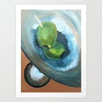 Double Olives Art Print