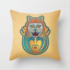 Gato diabólico  Throw Pillow