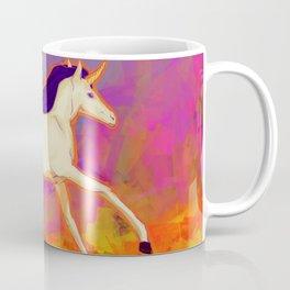 A jumping Unicorn Coffee Mug