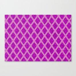 pink rhombus Canvas Print