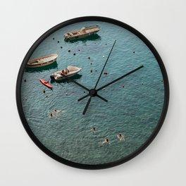 Cinque Terre - A dip in the Mediterranean Sea Wall Clock