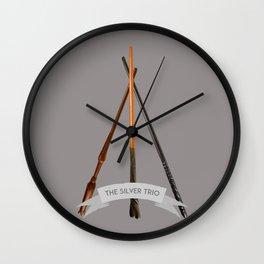 The Silver Trio Wall Clock