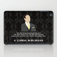 scandal iPad Cases featuring A Scandal in Belgravia - Mycroft Holmes by MacGuffin Designs