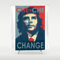 che Shower Curtains featuring CHE CHE CHANGE by MDRMDRMDR
