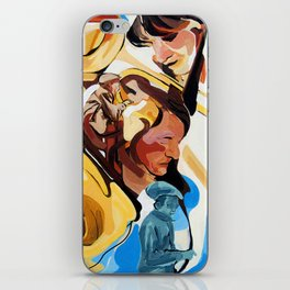 Playing Saxophone and Cello Abstract Expressive Painting iPhone Skin