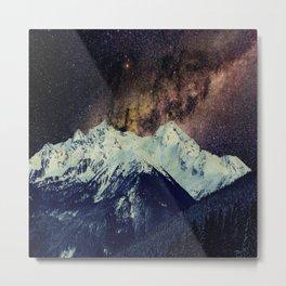 Milkyway Mountain Metal Print