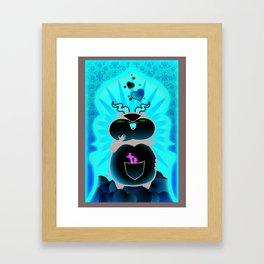 Boom Boom's Horns Framed Art Print