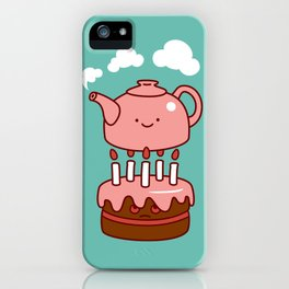 tea with cake iPhone Case