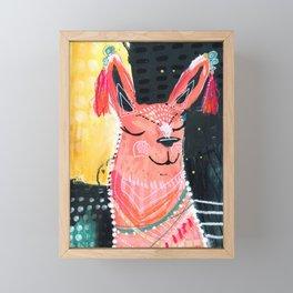 Llama love Framed Mini Art Print