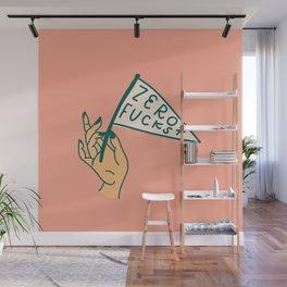 Zero Fucks! Wall Mural