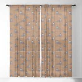 Walrus party Sheer Curtain