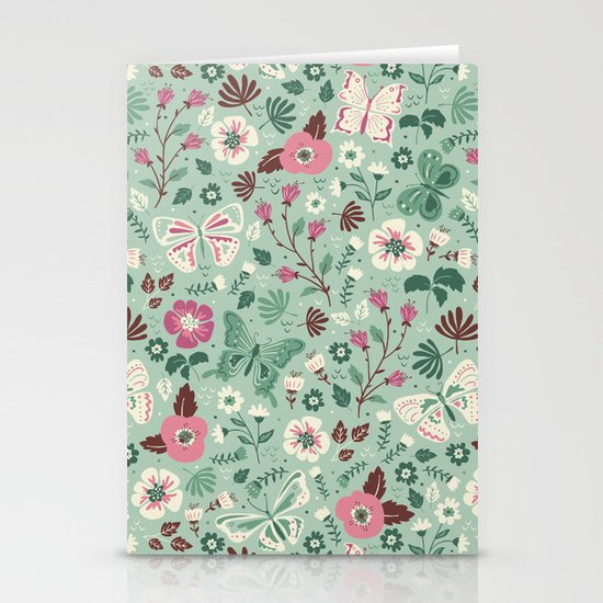 Garden Butterflies Stationery Cards