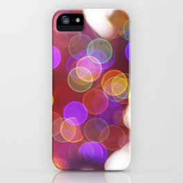 Bright and Blurred City Lights iPhone Case