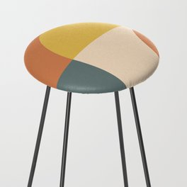Abstract Geometric 04 Counter Stool