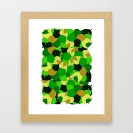 leaves ladybug and leaves pattern Framed Art Print