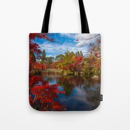Glorious Colourful Japanese Garden Tote Bag