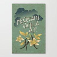 ale giorgini Canvas Prints featuring McCreamy Vanilla Ale by Brit Derr