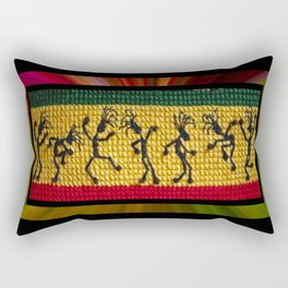 lively up reggae dancers Rectangular Pillow