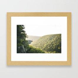 Hawksbill Crag at Sunrise Framed Art Print