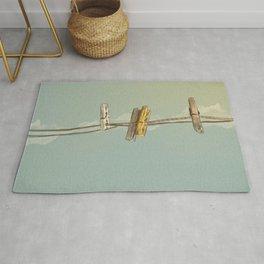Vintage Clothespin Rug