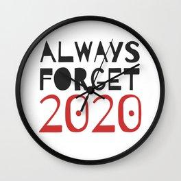 Funny illustration design Anti-2020-lettering-set Wall Clock