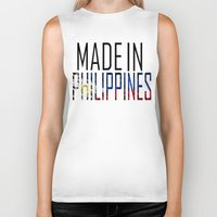 philippines Biker Tanks featuring Made In Philippines by VirgoSpice