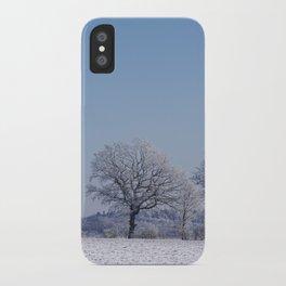 winter walk rural snow landscpape north Germany iPhone Case