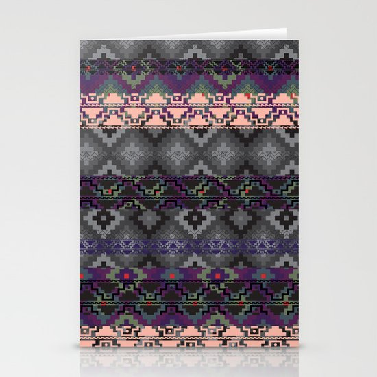 Russian style inspired Aztec Stationery Cards