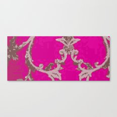Lush Pink Textile  Canvas Print