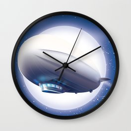 Travel the World - go by airship Wall Clock