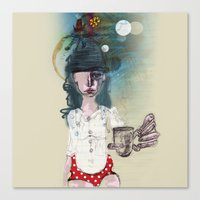 polka Canvas Prints featuring Polka by geline_illustration