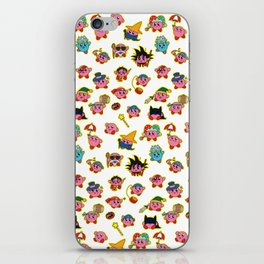 Kirby is swallowing everyone in here. iPhone Skin