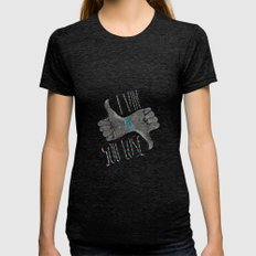 I Win You Lose MEDIUM Tri-Black Womens Fitted Tee
