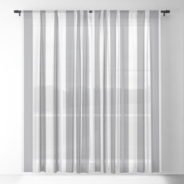 Vertical Grey Stripes Sheer Curtain