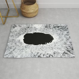 Black Hole - A Winter Lake In Finland Rug