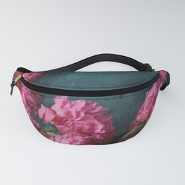 Peony Romance Teal Fanny Pack