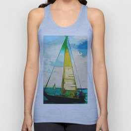 Night Sailing  -  Sailboats Unisex Tank Top