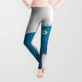 Blue Fat Cat Leggings