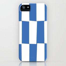 Modern royal blue and white trendy checker pattern iPhone Case