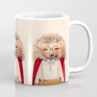 hedgehog Mugs featuring Hedgehog by Animal Crew