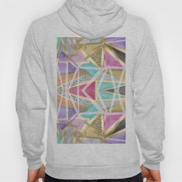 Geometric triangles watercolor hand paint pattern Hoody