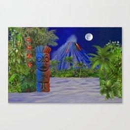 Tiki Art Background Canvas Print