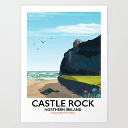 castle rock northern ireland Art Print