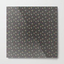 Christmas Mistletoe On Black Decor Metal Print