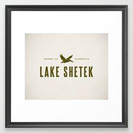 Lake Shetek Framed Art Print