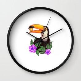 Jungle Toucan Wall Clock