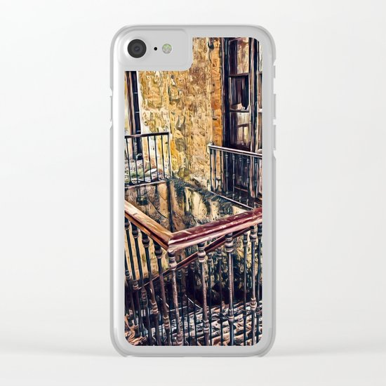 Mystery Place Clear iPhone Case